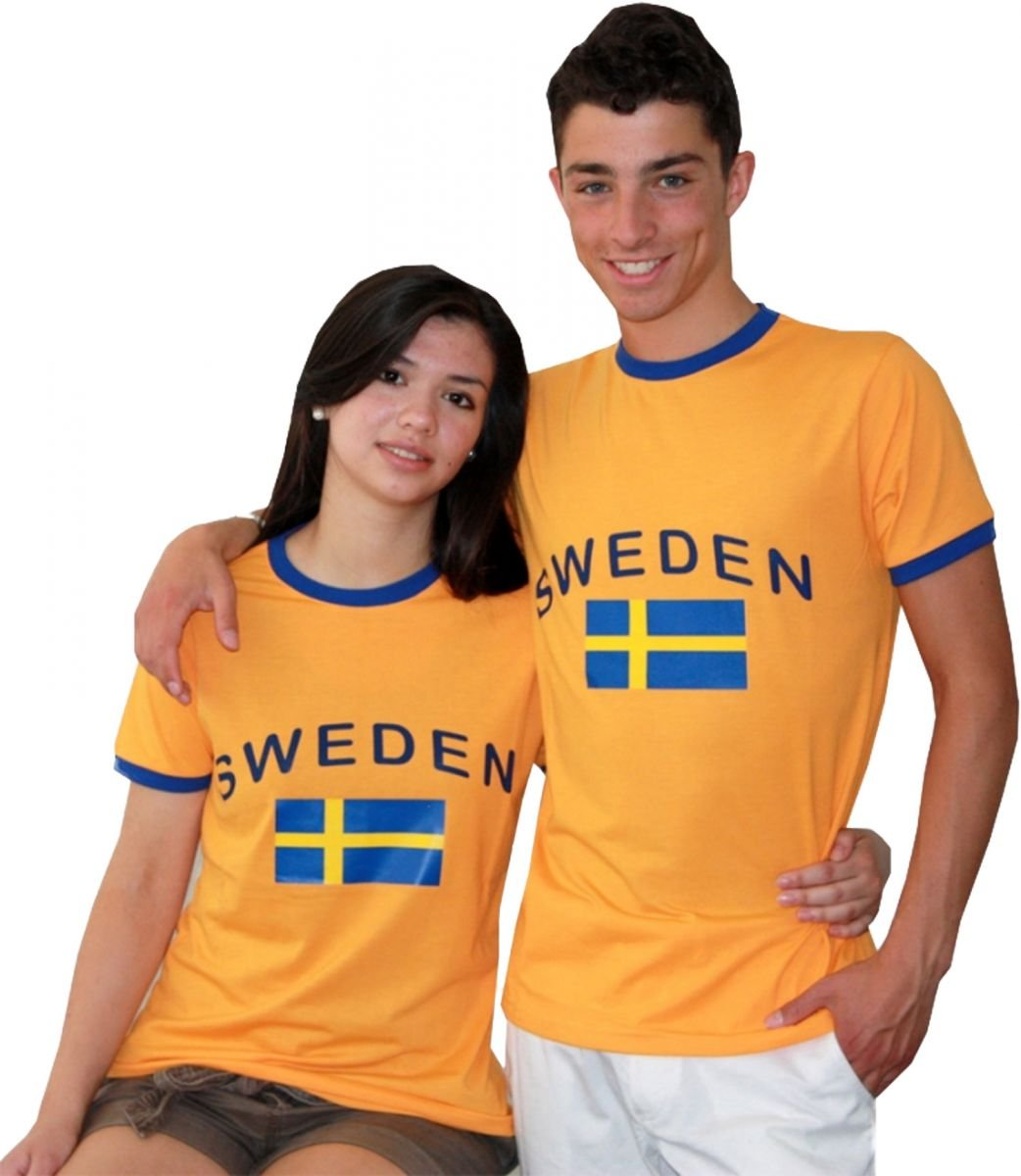 Sonia Originelli Fan-Shirt Sweden Unisex Fu/ßball WM EM Herren T-Shirt