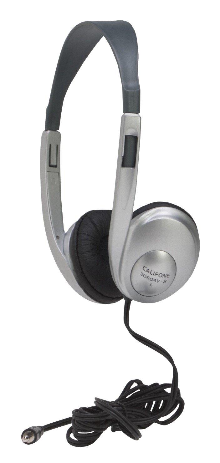 Califone 3060 AVS Adjustable Light-Weight Multi-Media Headphones, Silver