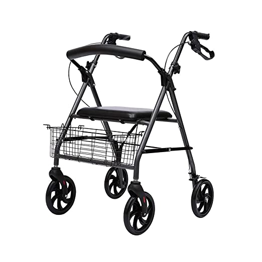 M-JJZX Andador con 4 Ruedas, Aluminio Ultraligero Plegable ...