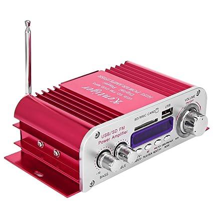 SZYT Amplificador de Coche con Radio FM y Amplificador de Coche (USB/SD,