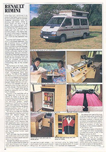 Review 1991 Renault Auto-Sleeper Motorhome