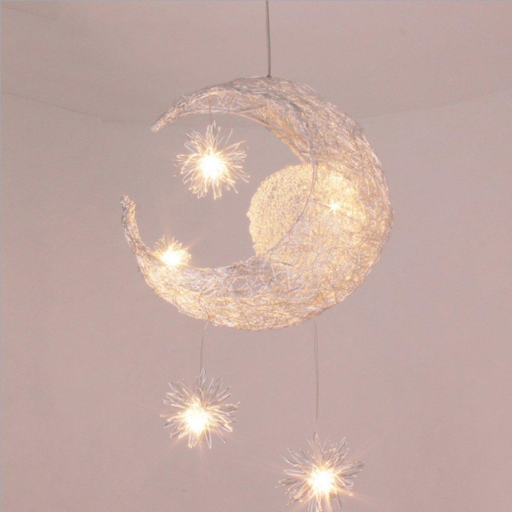 Egomall Hijo de aluminio creativo estrellas Luna las lámparas de techo dormitorio balcón Lámpara de techo de la moderna Lámpara de luz