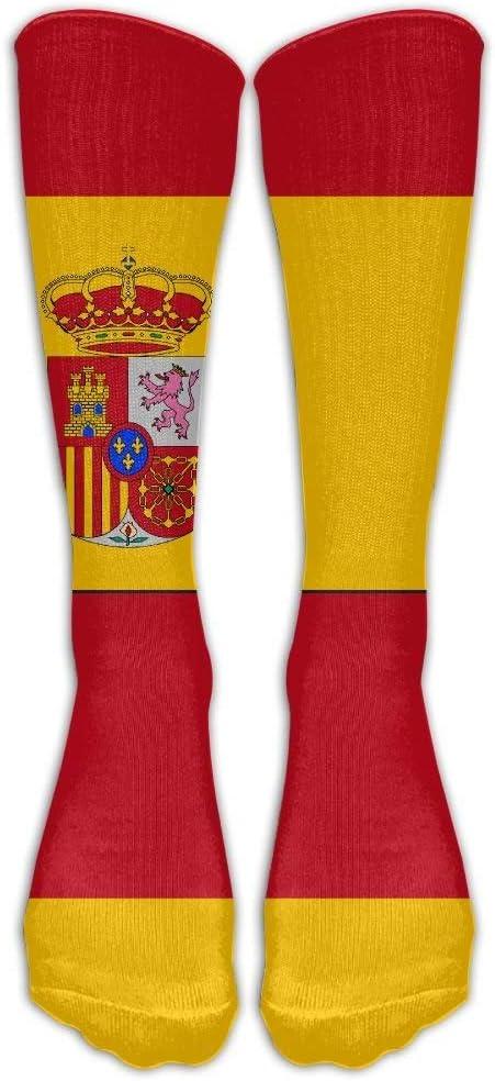 YuanHu Calcetines de compresión de la Bandera de España Calcetines de fútbol Calcetines Altos Calcetines Largos para Correr, Senderismo, Medicina, Atletismo, Viajes, enfermería.: Amazon.es: Deportes y aire libre