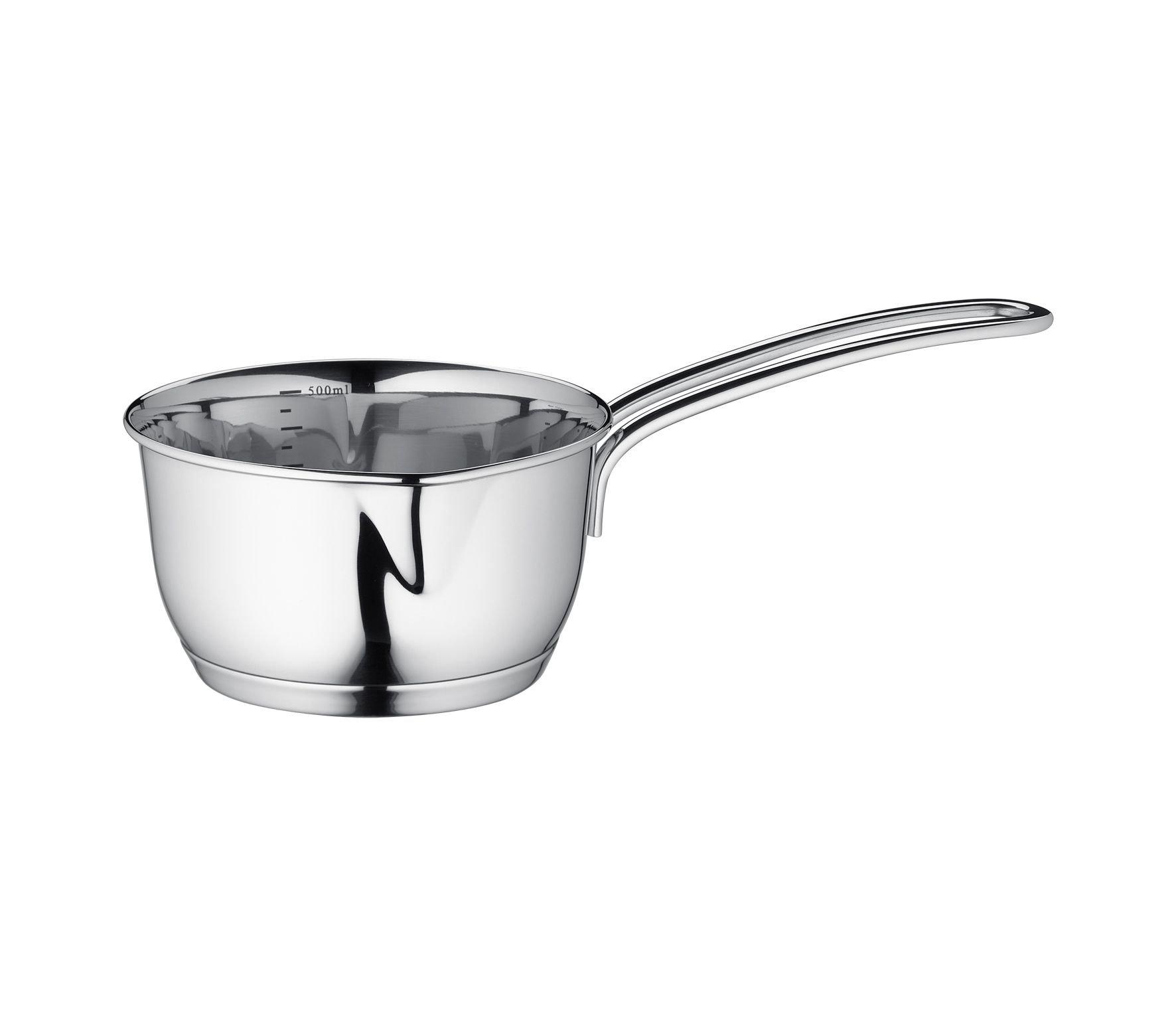 Kuchenprofi Stainless Steel Saucepan with Clad Bottom, 16-Ounce