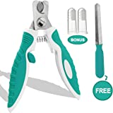 Dog Nail Clippers Trimmers with Safety Guard for Small Medium Dogs Claw Clippers, Pet Nail Cutters for Thick Nails with Free Nail File & Dog Toothbrushes