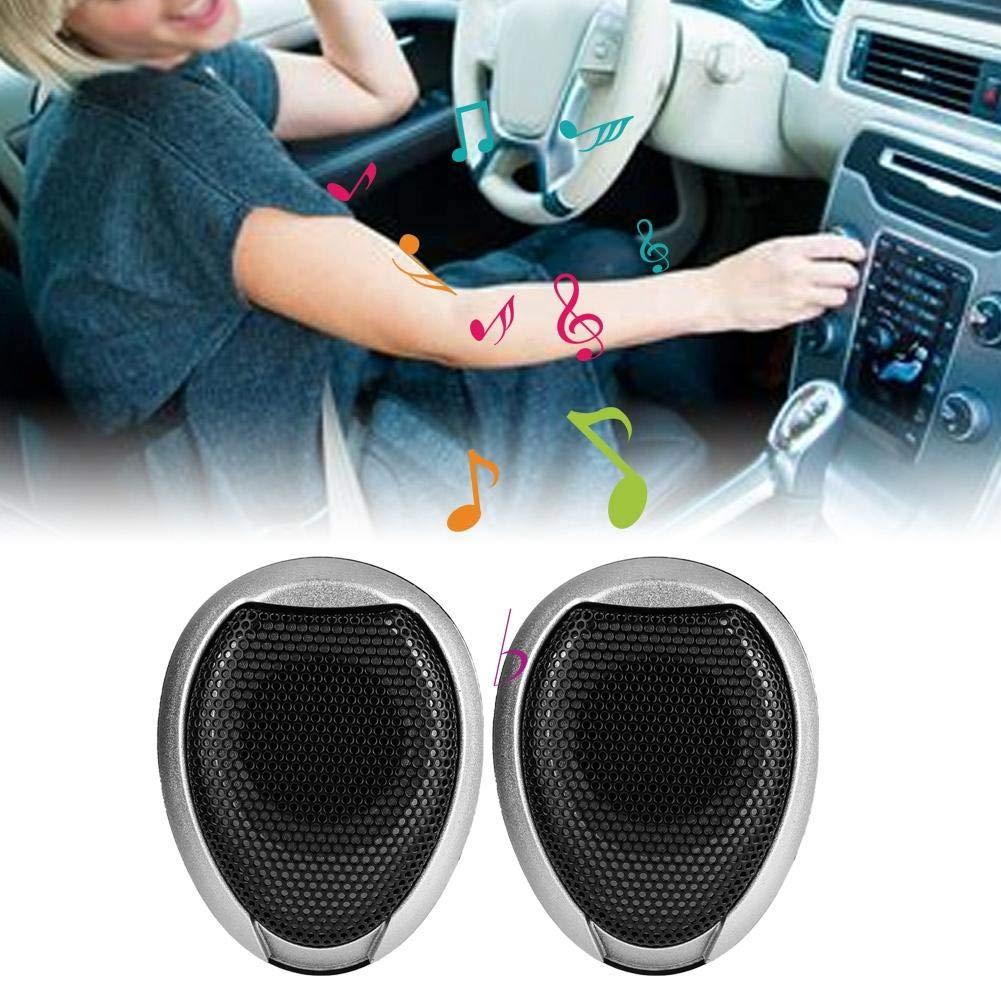 Black Auto Hocht/öner 1000W Mini Auto Lautsprecher Audio Runder Klebbarer Lautsprecher Automobillautsprecher mit Kleber