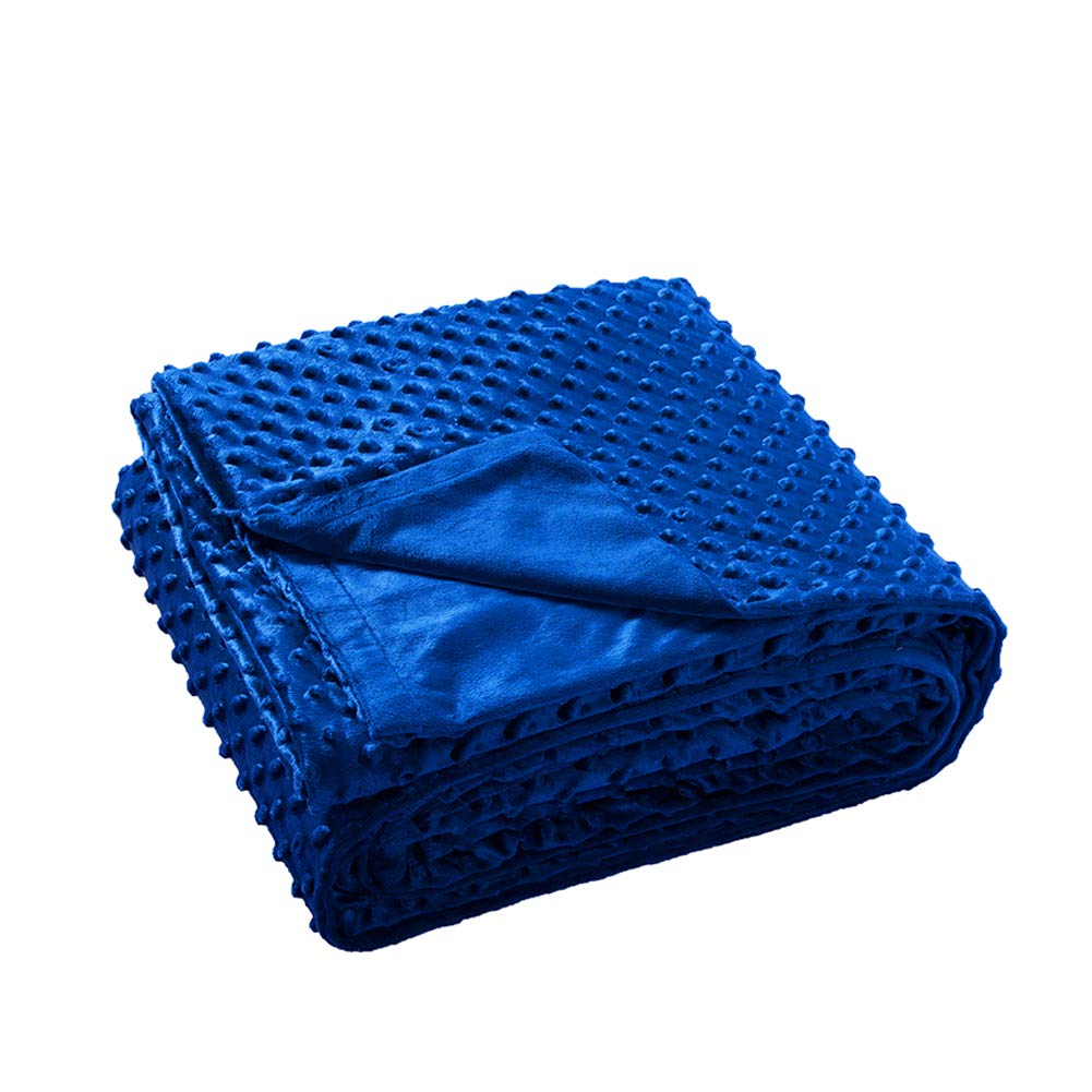 Maple Down Removable Ultra-Soft Minky Cover for Weighted Blanket | 48''x72'' Blue Honren Group