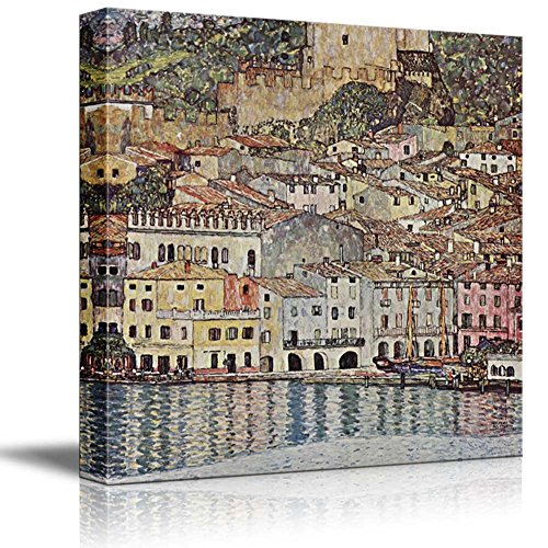 Malcesine on Lake Garda by Gustav Klimt Austrian Symbolist Painter