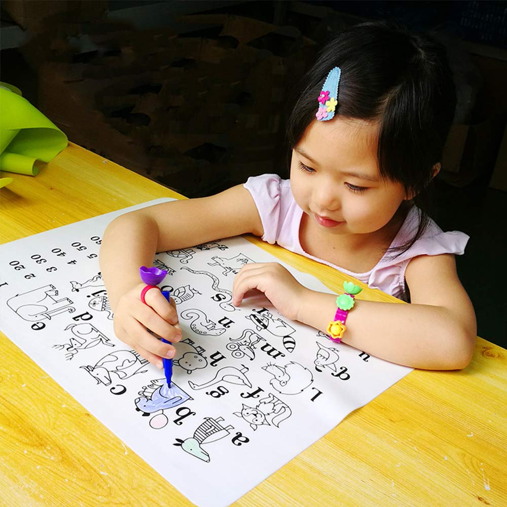 16X12 Bozoa Silicone Doodle Mat Kids Placemat Coloring Drawing Mat Alphabet Animal Digital Washable Reusable Place Mat for Toddlers Boys Girls Painting Writing Educational Mat