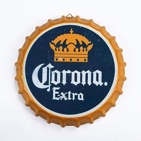 Cartel de Chapa Corona Imperial Vintage Metal Pintura ...