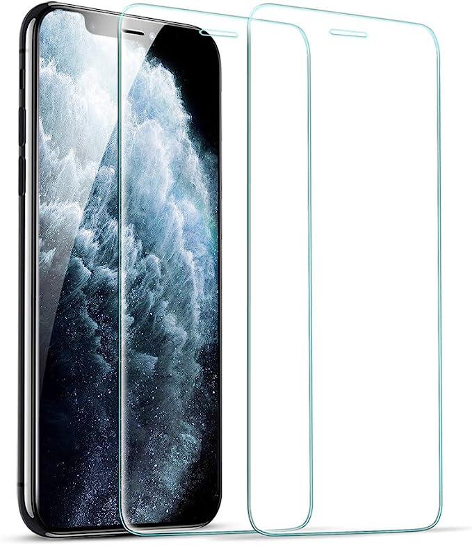 "ESR Protector de Pantalla para iPhone 11 Pro/iPhone XS/X, Marco de Instalación Fácil, Compatible con Carcasa, Protector de Pantalla Cristal Templado Premium para iPhone de 5,8"" (2019). 2 Unidades.: Amazon.es: Electrónica"