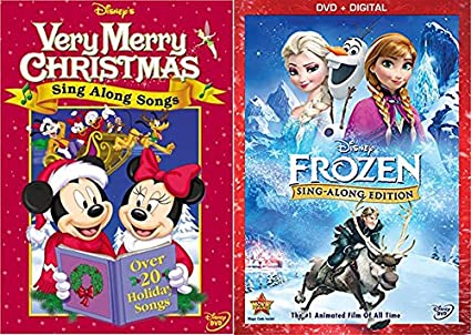 disney sing along songs very merry christmas frozen edition characters animated fun double pack