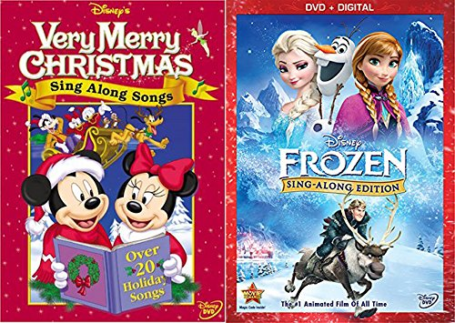 Disney Sing Along Songs Very Merry Christmas & Frozen Edition characters Animated Fun Double Pack