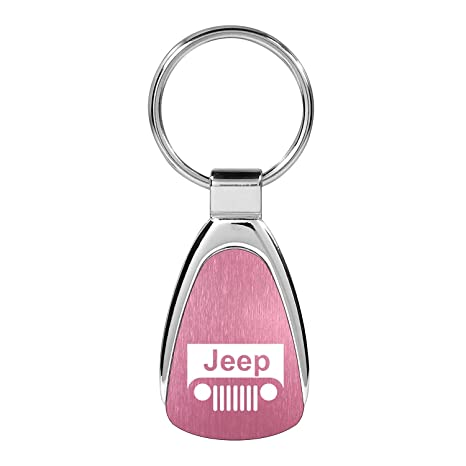 Jeep Grille Keychain and Keyring Pink Teardrop