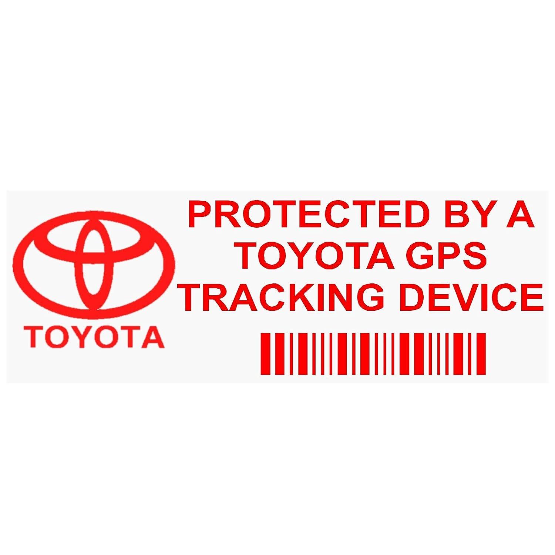 5/x Pptoyotagpsred GPS rosso dispositivo di tracciamento finestra adesivi 87 x Van allarme Tracker