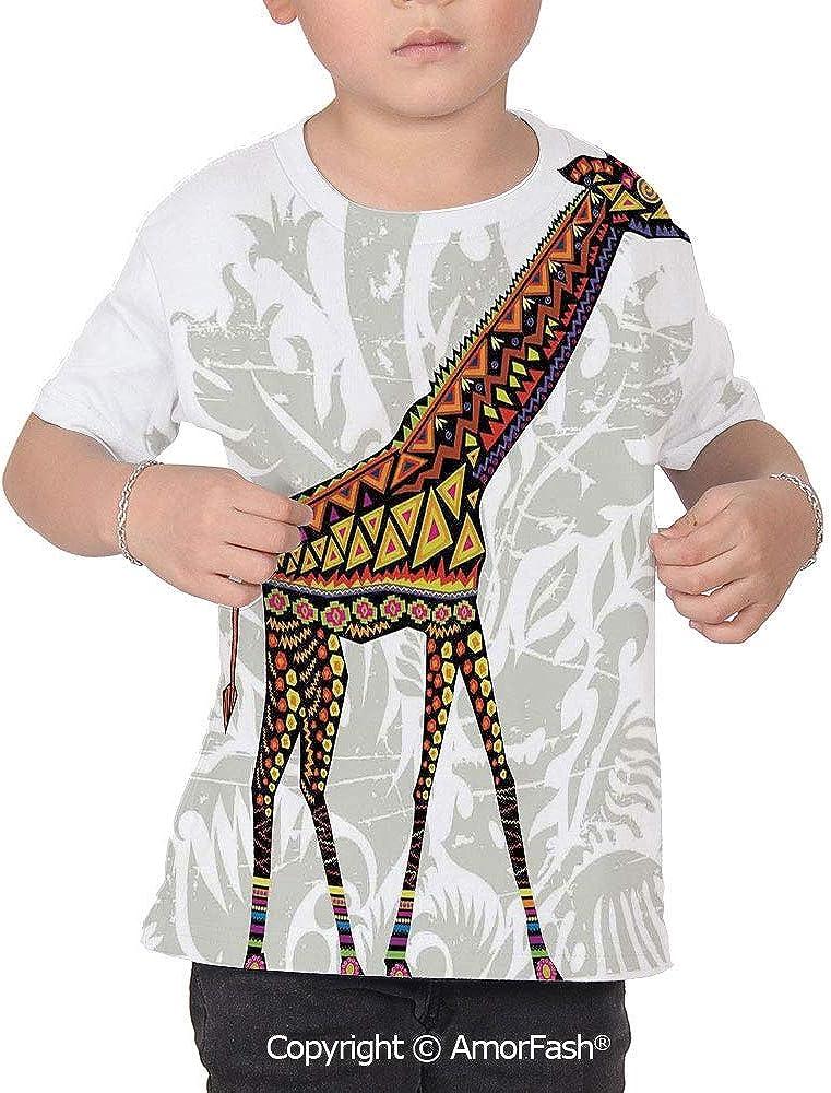 Batik Decor Distinctive Childrens Premium Polyester T-Shirt,XS-2XL,African Sava