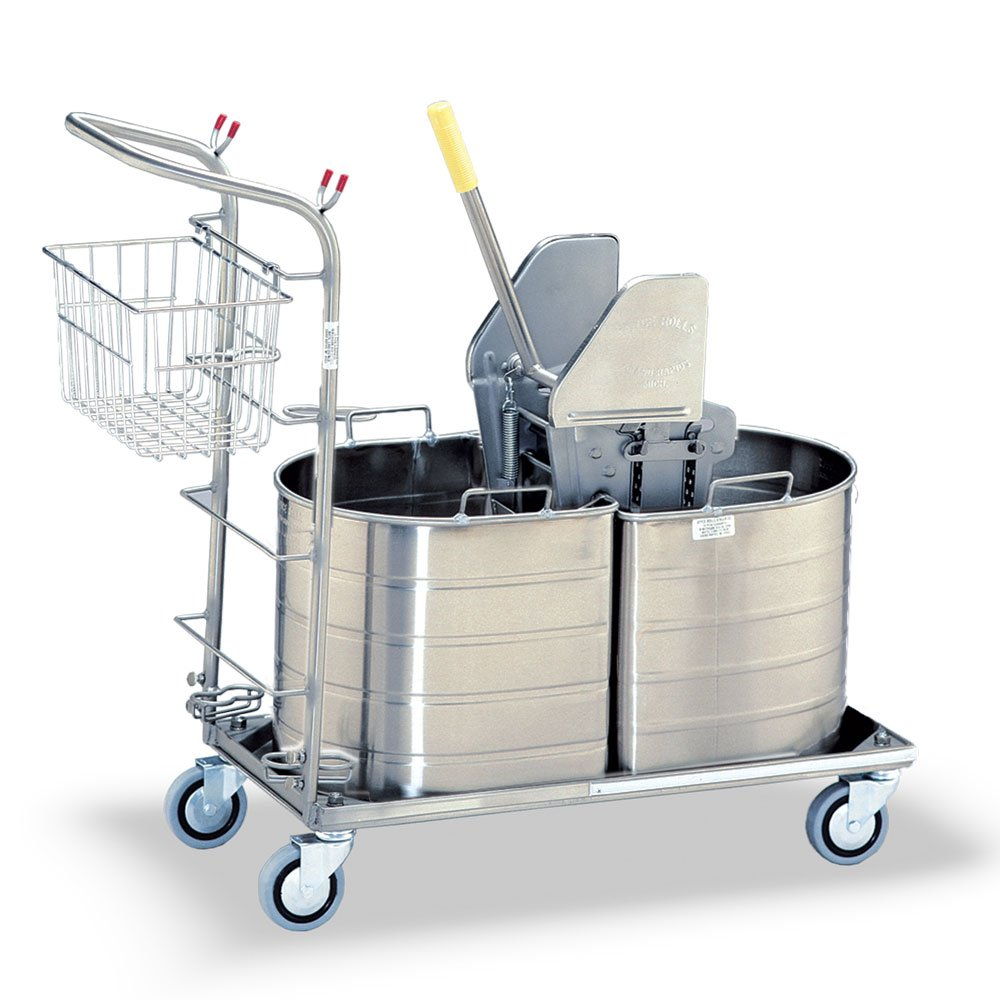 Royce Rolls Stainless Steel Half Oval Double Tank Mopping Unit #1C-220-H