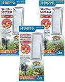 (3 Pack) Marina Slim Filter Zeolite Plus Ceramic Cartridge, 3 Cartridges each