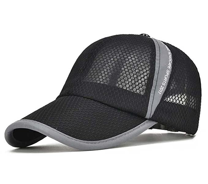 Amazon.com  CRYSULLY Summer Cap Flexfit Sports Caps Mesh Hat for Golf  Cycling Running Fishing Outdoor Research Sun Hat Visor Black  Clothing afc0f326561b