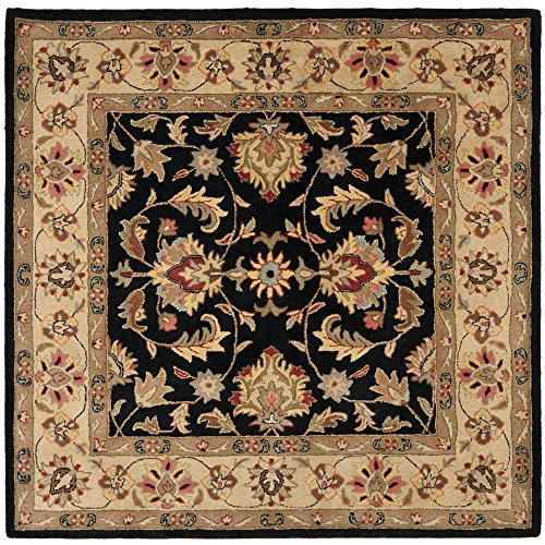 Safavieh Heritage Collection HG957A Handcrafted Traditional Oriental Black and Gold Wool Square Area Rug (8' Square)