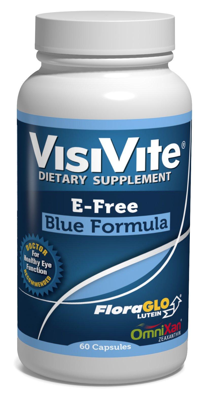 VisiVite AREDS2 E-Free Blue Formula 60 Capsules