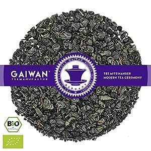 "Núm. 1334: Té verde orgánico""Gunpowder Pinhead (cabeza de alfiler de pólvora)"" - hojas sueltas ecológico - 250 g - GAIWAN® GERMANY - té verde de la agricultura ecológica en China"