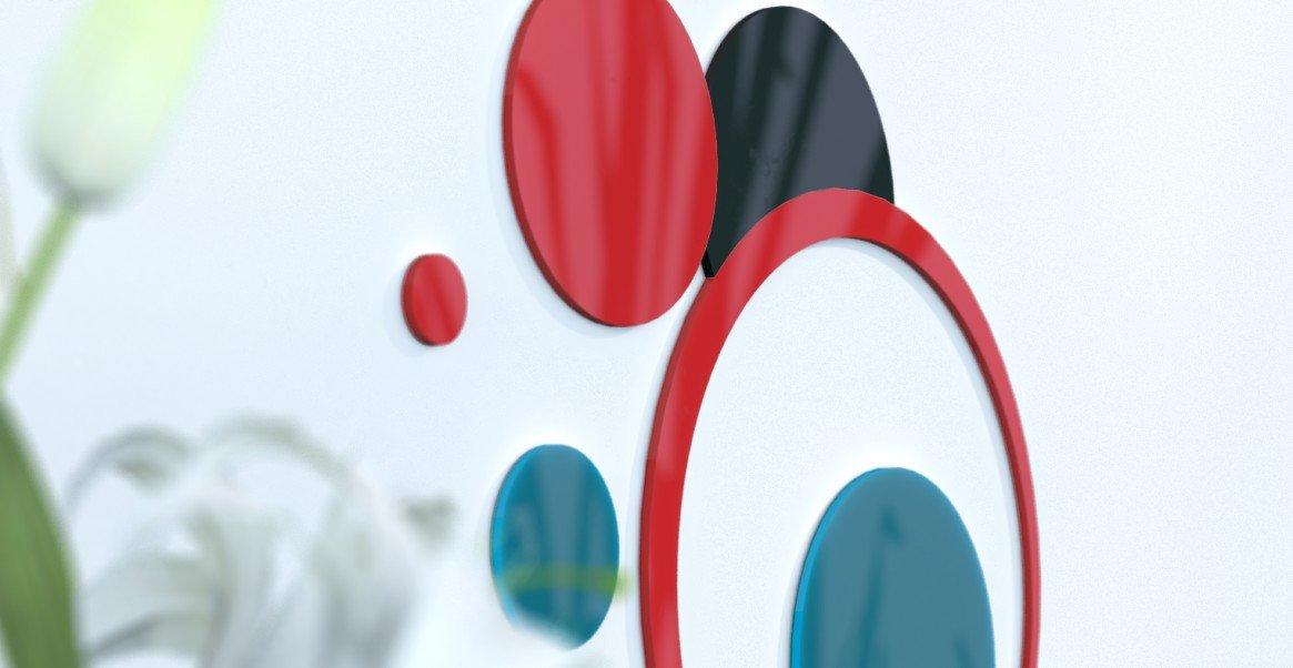 Deko Wand-Wohnzimmer originelle Blaue Ente und grau silber rot   schwarz   grau foncÃeacute; rot   Blau Canard   schwarz