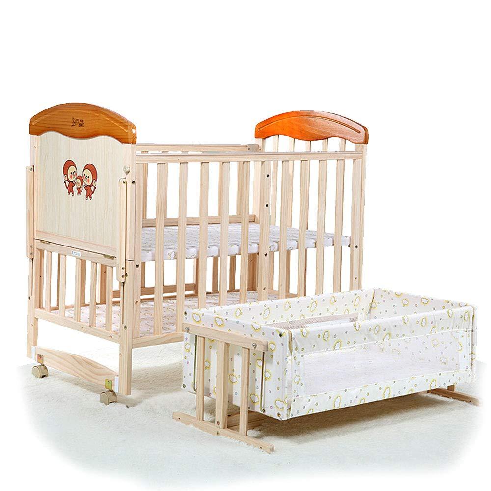 HUIFANG HUIFANG 赤ちゃんの遊び場フェンスの自然な固体木製のベビーベッドの健康的な非毒性の3つの位置0-5歳の赤ちゃんに適したベビーベッドの多機能 A (色 : Brown, 105*70*61cm サイズ さいず : さいず 105*70*61cm) 105*70*61cm Brown B07M82HR6P, 中古ラケットワールド:1cc64a89 --- bennynews.com