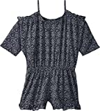 Ella Moss Big Girls' Slit Shoulder Chiffon Romper, Spring Night, 7/8