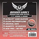 50 Mayday 80 x 80 Square Premium Card Sleeves Board Game