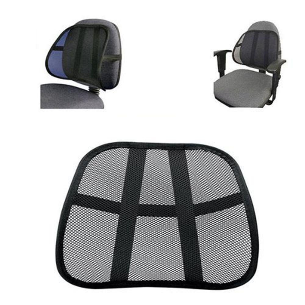 BSGSH Lumbar Support Cushion Seat Back Muscle Car Home Office Chair Pain Relief Travel - Cool Breathable Mesh Support