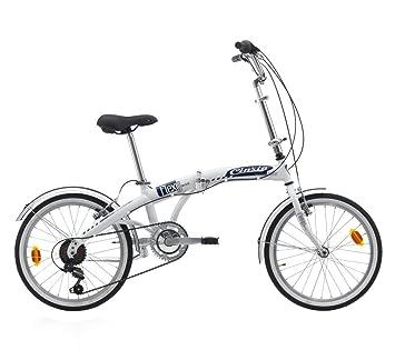 Bicicleta car-flexy Unisex y plegable 20 ciclos Cinzia, Bianco