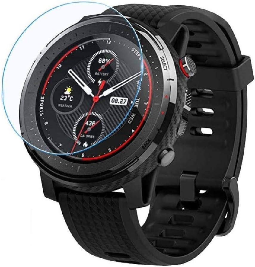 3X Protector de Pantalla para XIAOMI AMAZFIT Stratos 3, Cristal Vidrio Templado Premium Reloj SmartWatch