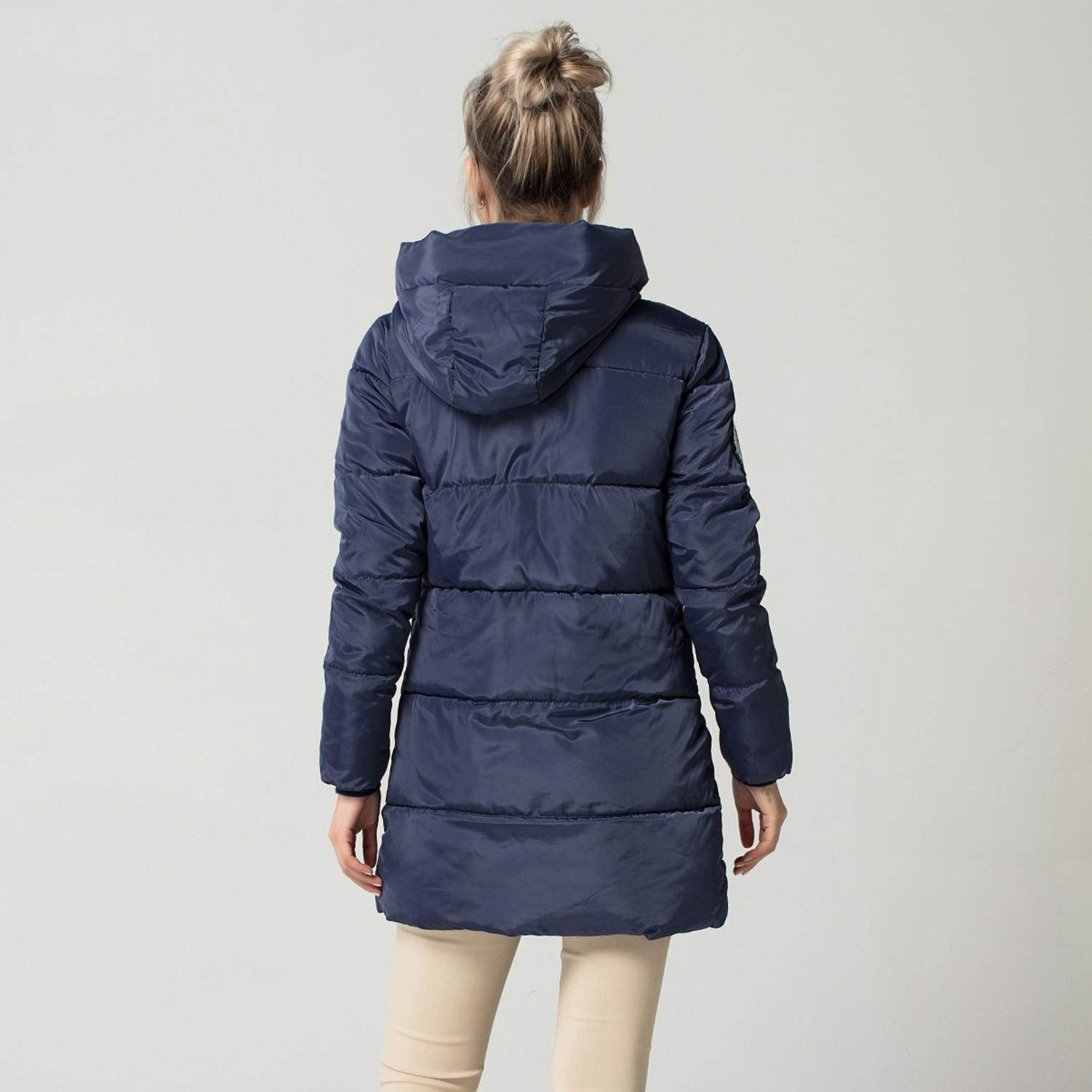 colorful-space New Long Down Parkas Women Winter Coat Thick ...