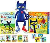 """Pete the Cat's Super Cool Reading Collection (5 Books), 14.5"""" Plush Toy & Matching Game Gift Set"""