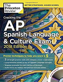 Amazon ap spanish preparing for the language and culture cracking the ap spanish language culture exam with audio cd 2018 edition proven fandeluxe Image collections