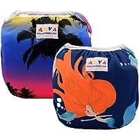 ALVABABY Swim Diaper Reuseable Washable Adjustable Swim Lession Set Large Size ZSWD10-11-CA