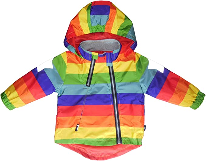 Boy and Girl Reflective Safety Jacket Outerwear Colorful Printed Zipper Hooded Jackets Coat for 1 6T
