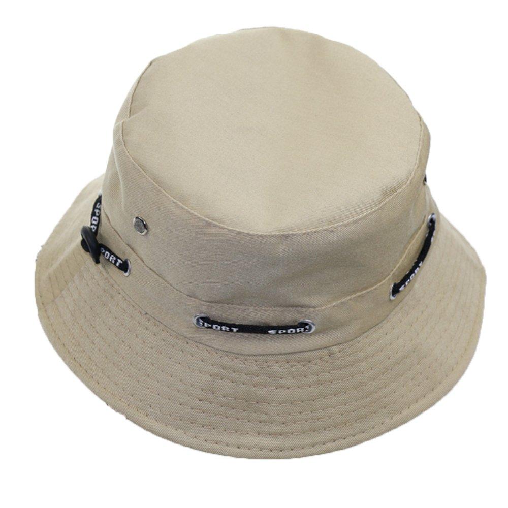 Khaki Zihuaye 100% Cotton Women's Fishing Hat, Summer Trarel Bucket Cap, Packable Breachable Hat,