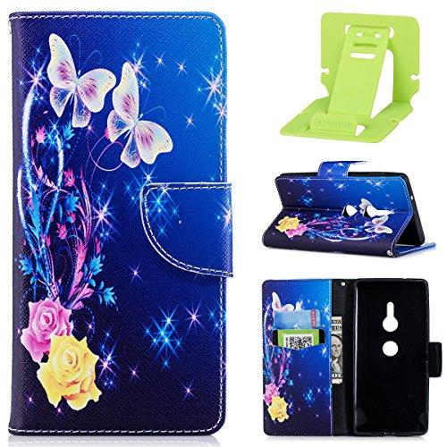 Xperia Jolie Ekakashop Color Sony Sony pour Coque Xperia XZ2 Coque Rabat Arbre XZ2 EBxqxzvp