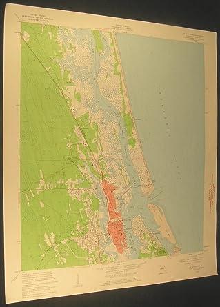 St Augustine Florida Map.St Augustine Florida Woodlawn Araquey 1961 Vintage Usgs Original