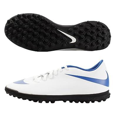 Nike 844437-142 - Zapatillas de fútbol Sala de Sintético para Hombre Blanco Blanco/Azul Blanco Size: 45 EU: Amazon.es: Zapatos y complementos