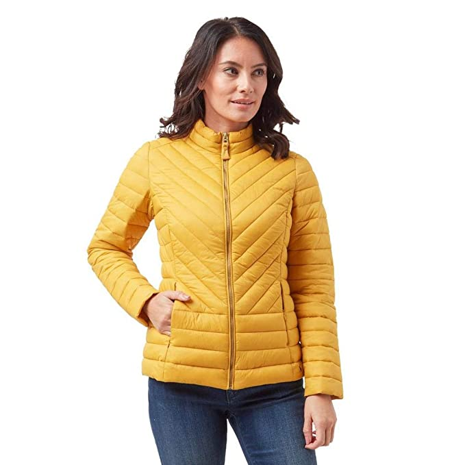 Joules Womens Elodie Quilted Jacket in ANTIQUE GOLD