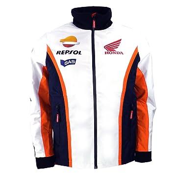 HONDA Repsol Gas Moto GP Equipo Paddock Chaqueta de Marc Márquez Pedrosa Oficial 2016, Blanco: Amazon.es: Deportes y aire libre