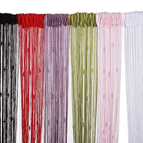 Thread Drapery - Tassel String Curtain Fly Screen Divider Bead Decoration - Twine Mantle Bowed Stringed Instrument Word Chain Pall Linguistic Strand Drawstring - 1PCs