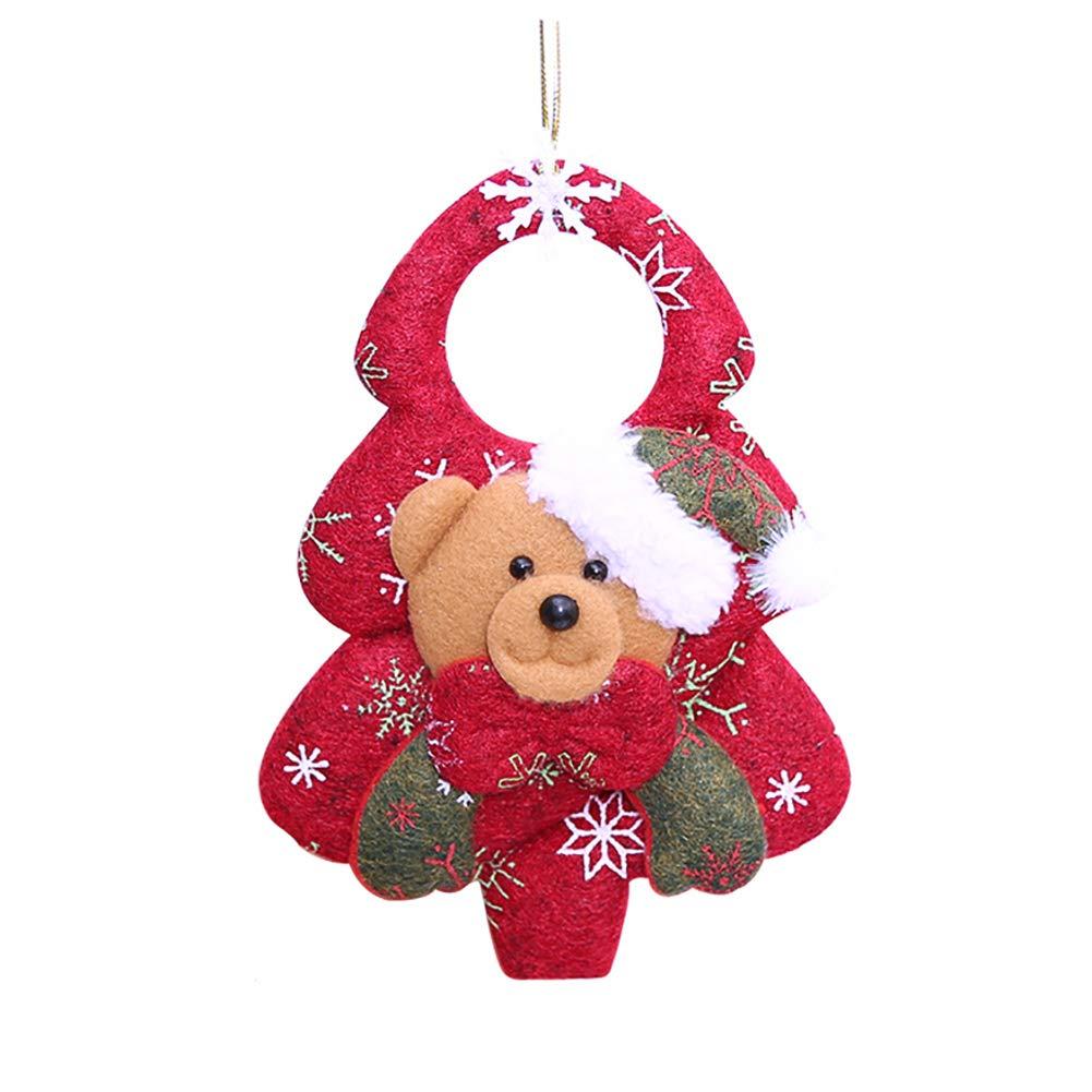 Hilai Pendente della bambola 1pcs di Natale Tessuto non tessuto Bear per Decorazioni dell'albero di Natale