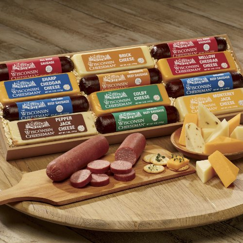 12-Piece Cheese & Sausage Gift Box from Wisconsin Cheeseman