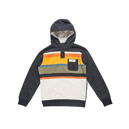 RIP CURL Multi Stripe Hooded Fleece Sudadera, Niños, Dark Marle, 8