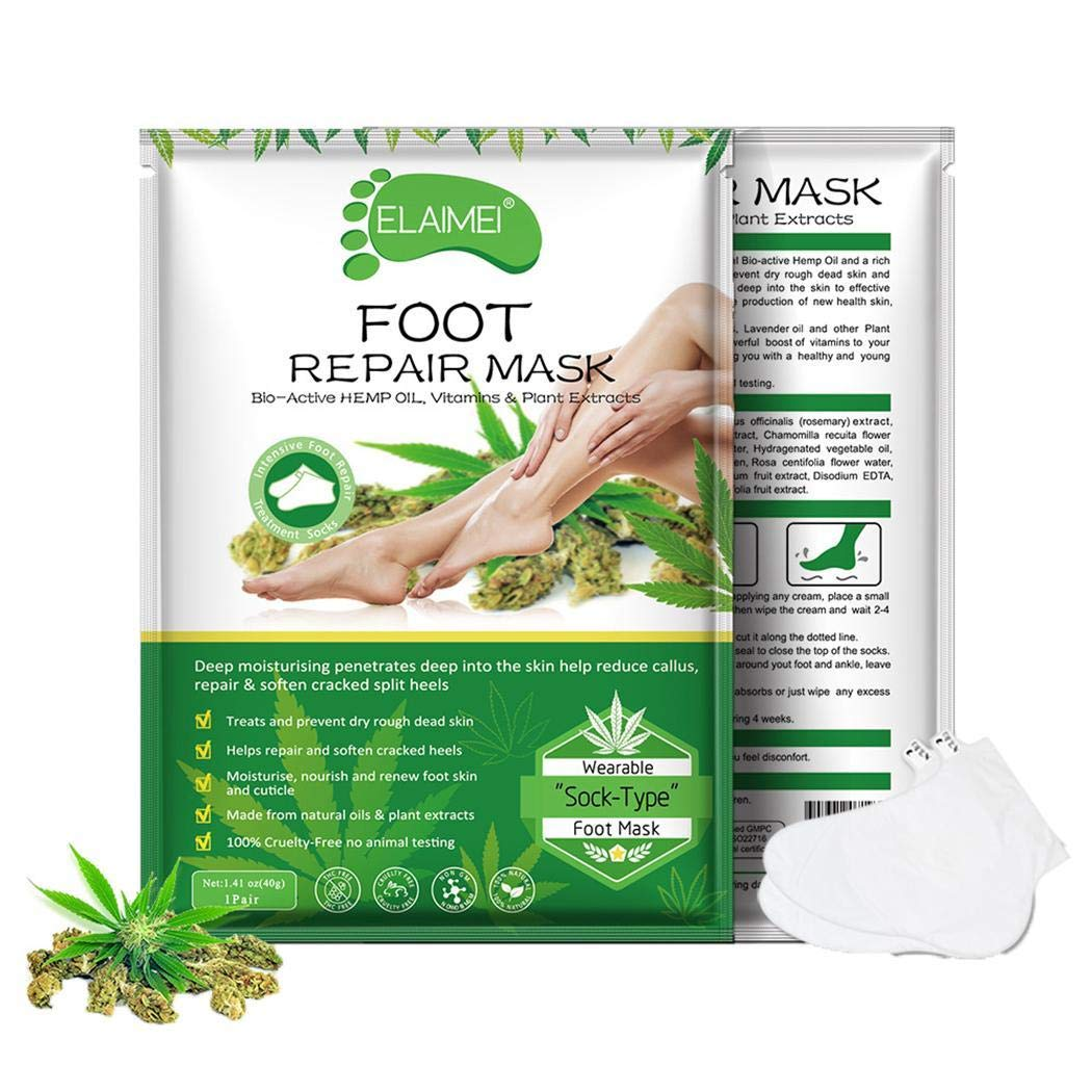 Villeur Exfoliating Feet Mask Soft Dead Skin Remove Foot Care Scrubs by villeur