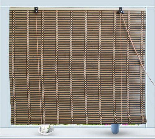 Roll Up de bambú Parasol ventana ciega W36 x H72